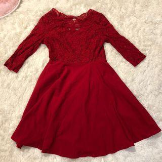 露背小洋裝(僅穿過1次)