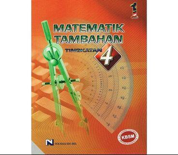 (ISO): Buku Teks Matematik Tambahan Tingkatan 4