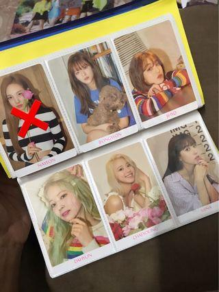 TWICE Loose Official Photocard (PC)