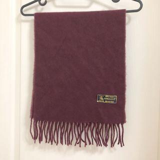 義大利圍巾 米蘭時尚圍巾 conquista圍巾 羊毛圍巾 流蘇圍巾 酒紅色圍巾 配件 披肩 百搭圍巾