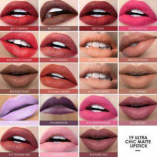 10 Ruddy Pink Original Lip Cream Matte Focallure