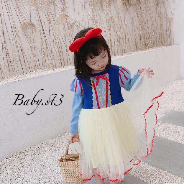 新款預購白雪公主造型連身紗裙