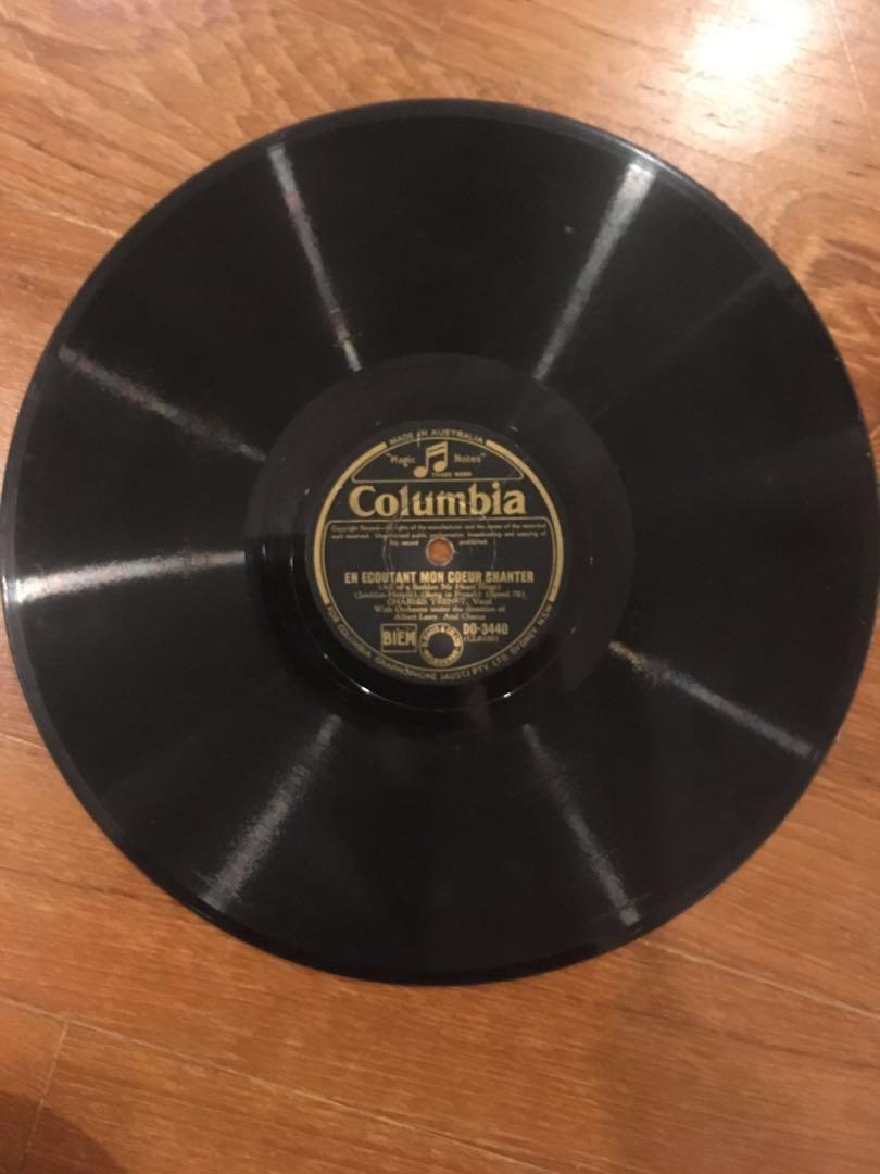 Gramophone record: Charles Trenet, vintage