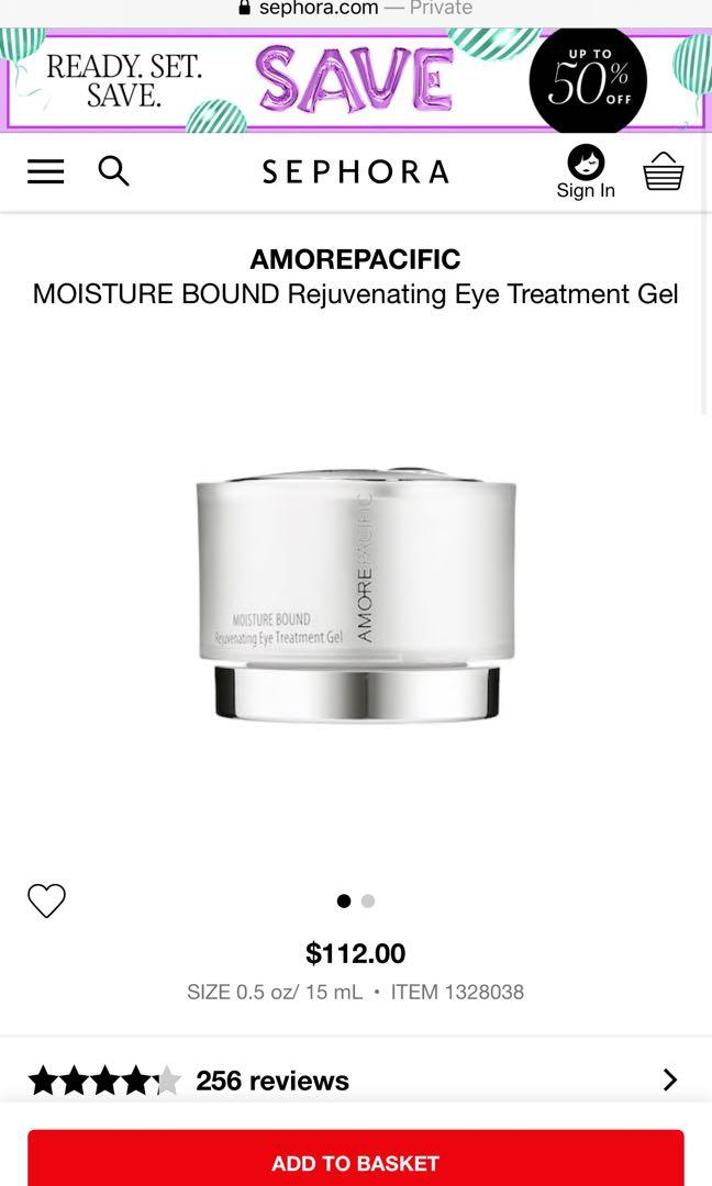 Amorepacific moisture bound eye cream (Retails $112)