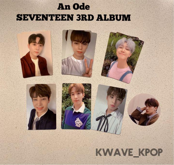 [An Ode] SEVENTEEN 3RD ALBUM [The Poet Version] - Official Photo Card  /Photo Round Sticker