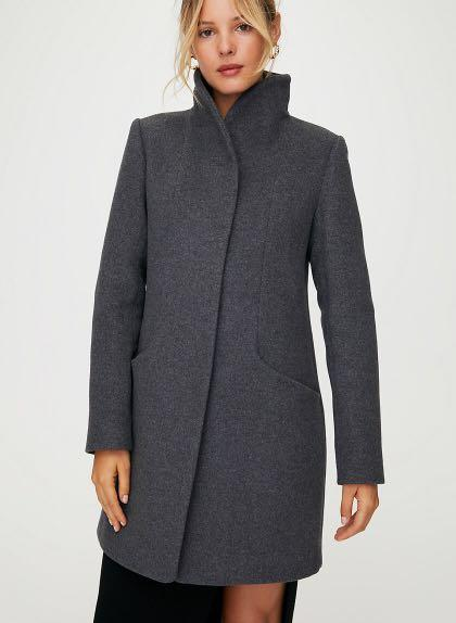 Aritzia Wilfred Cocoon Coat in Charcoal (as pictured) SIZE XS