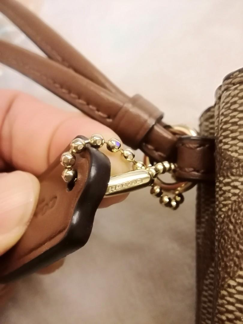 AUTHENTIC Coach Wristlet Double zipper 雙拉鍊銀包