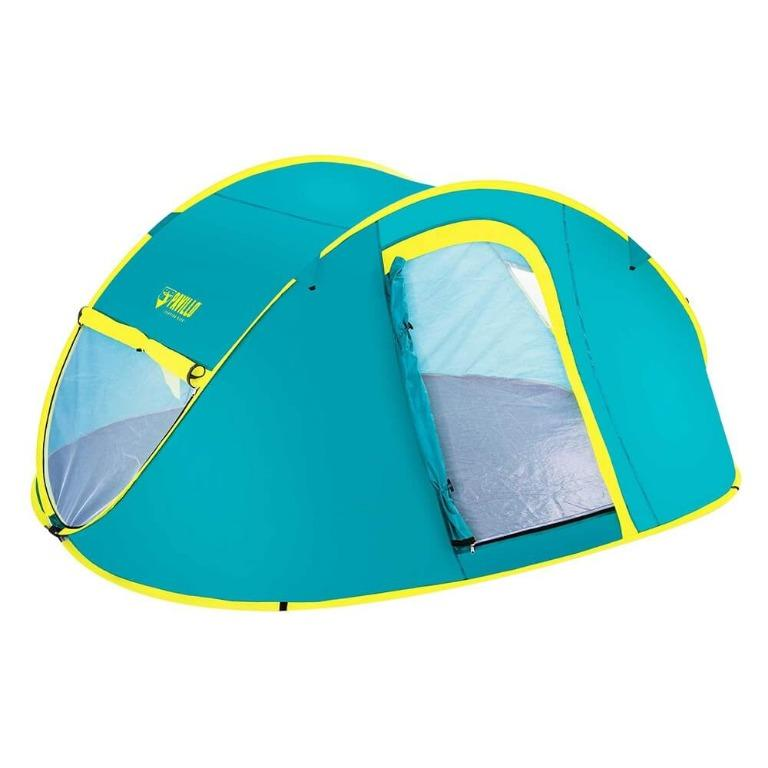 Bestway Family Camping Tent Pop Up 4 Person Canvas Hiking Outdoor Beach Tent