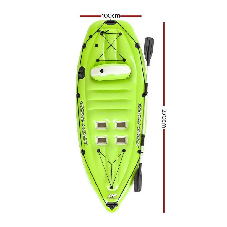 Bestway Inflatable Kayak Kayaks Canoe Raft Koracle Fishing Boat 2.70m x 1.00m
