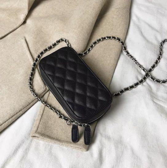 Mini Black Quilted Crossbody