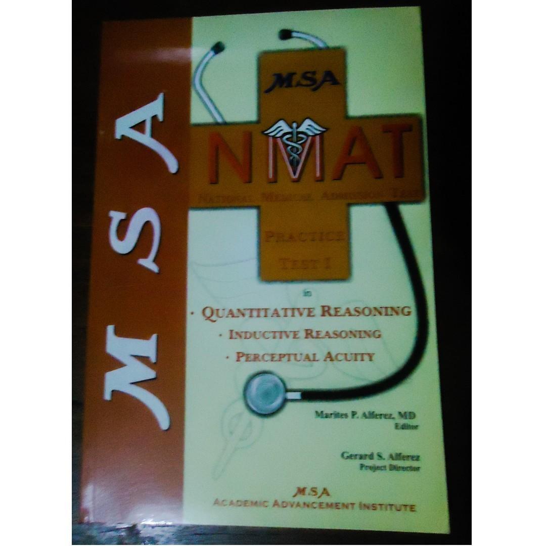 Book Sale   MSA NMAT Reviewer Quantitative Reasoning, Inductive Reasoning and Perceptual Acuity