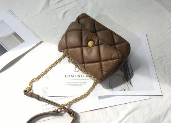 Classic Brown Pillow Bag