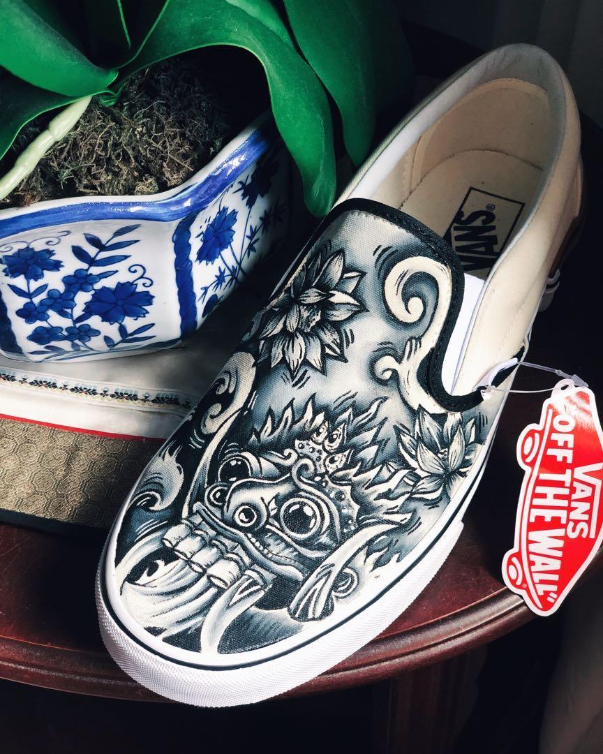 Custom Painted Barong Vans Shoes