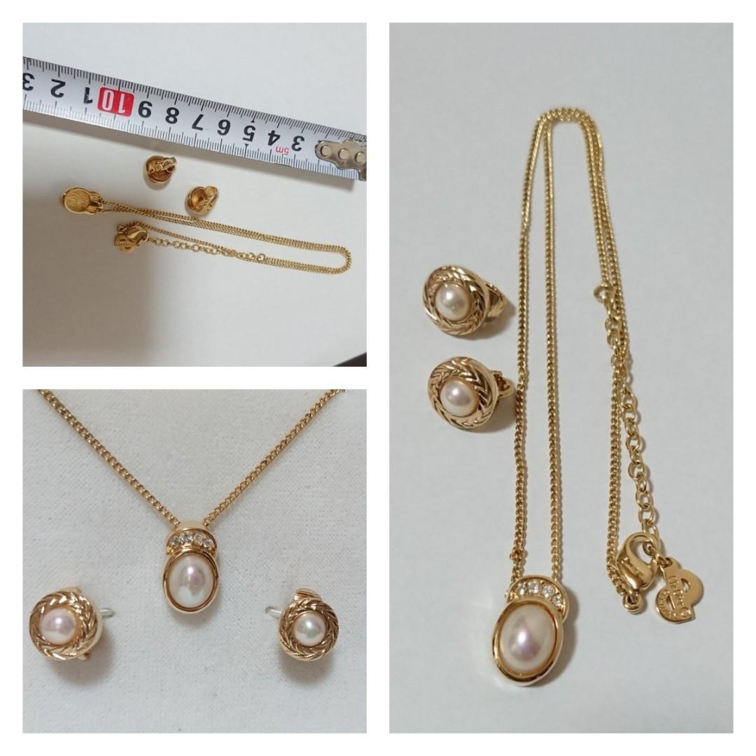 【預訂】Dior Vintage耳環頸鏈套裝