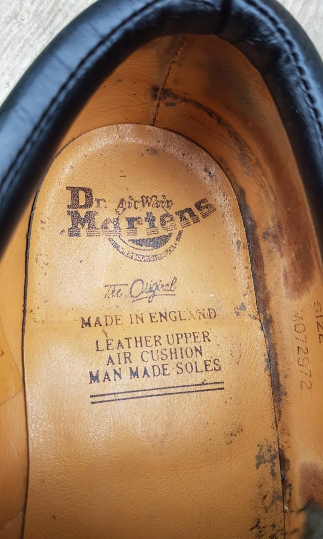 Doc Martens Black Leather Shoes 9UK MADE IN ENGLAND- School/Work/Casual/Dress