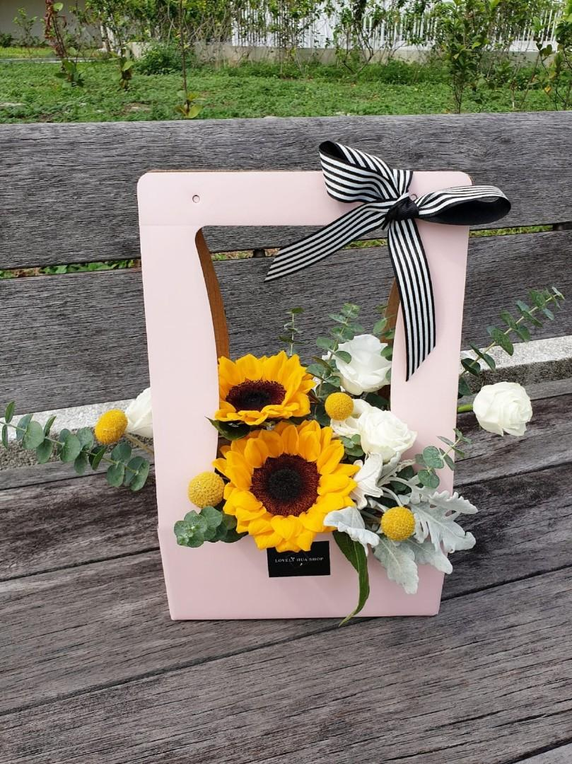 (FB02) Sunflower Floral Box