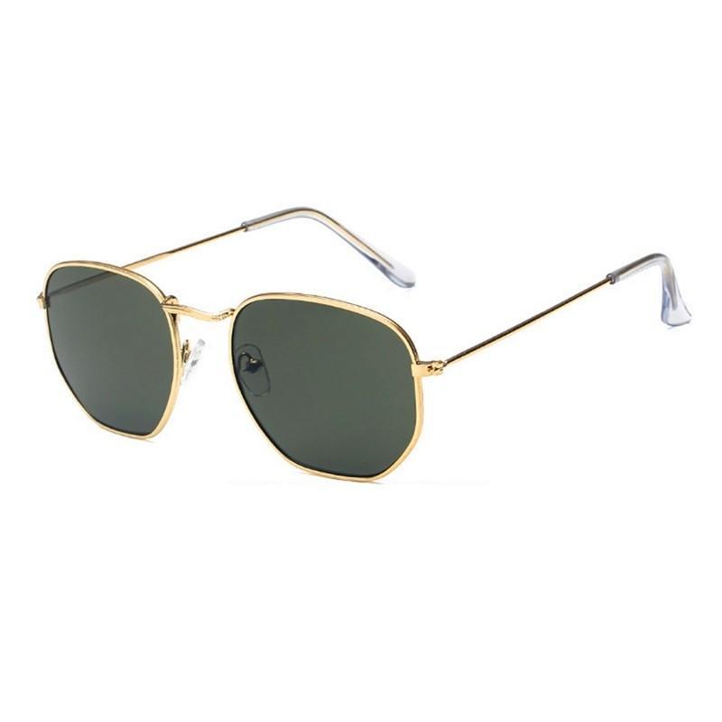 FT Square Sunglasses Women Men Shades Retro Classic Black Sunglasses