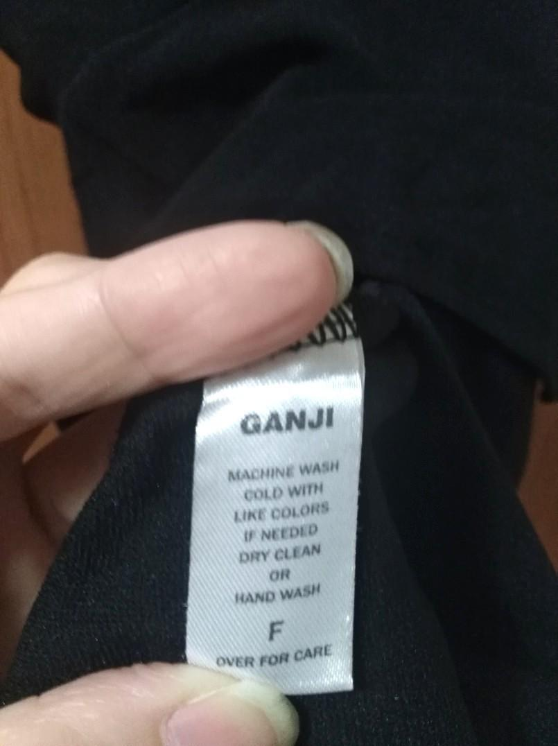 『GANJI』正韓*黑色假兩件上衣