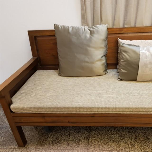 Moving Out - Teak Set - 2 X 2 Seater + Coffee Table