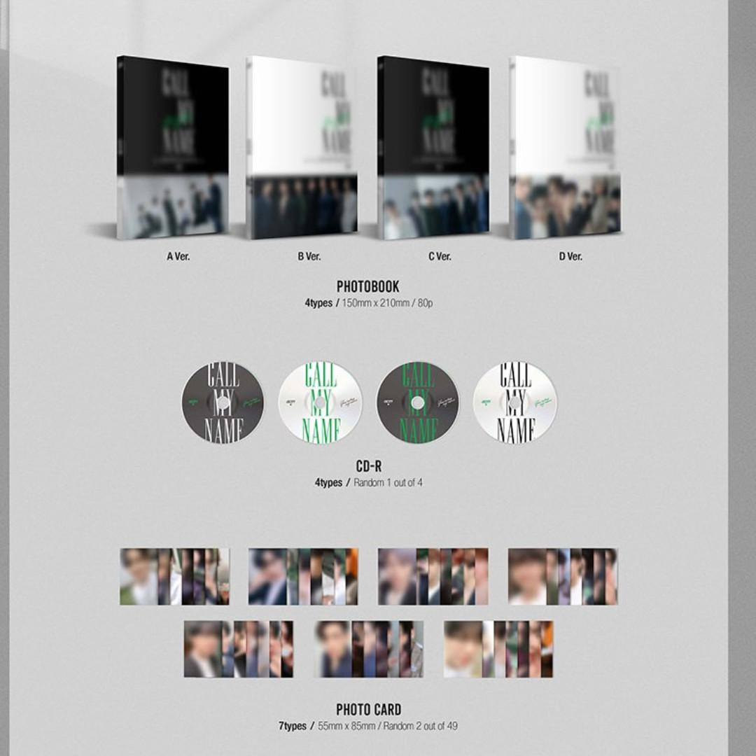 GOT7 - CALL MY NAME - PREORDER/NORMAL ORDER/GROUP ORDER/GO + FREE GIFT BIAS PHOTOCARDS (1 ALBUM GET 1 SET PC, 1 SET GET 9 PC)