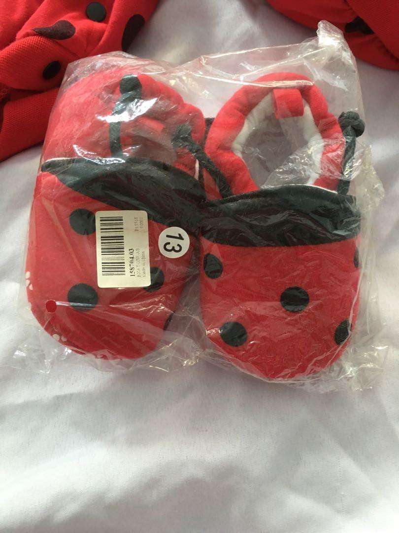 Ladybug romper and shoes