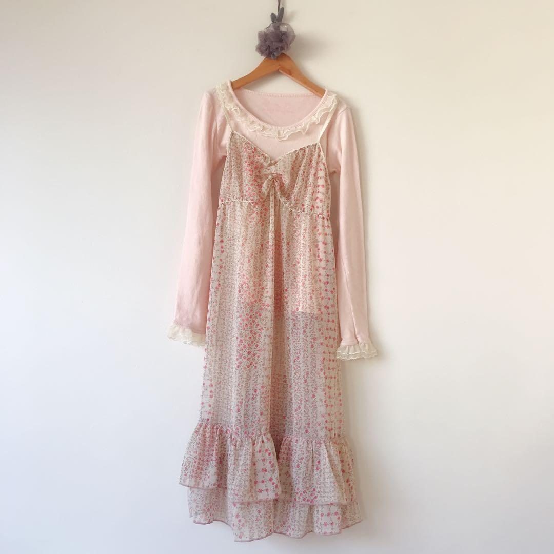 *made in KOREA* Floral dress lace top set size 8-10