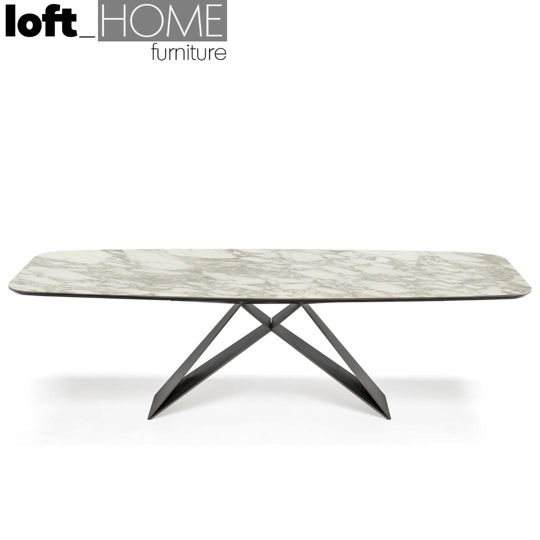 Marble / Stainless Steel Dining Table – PREMIER
