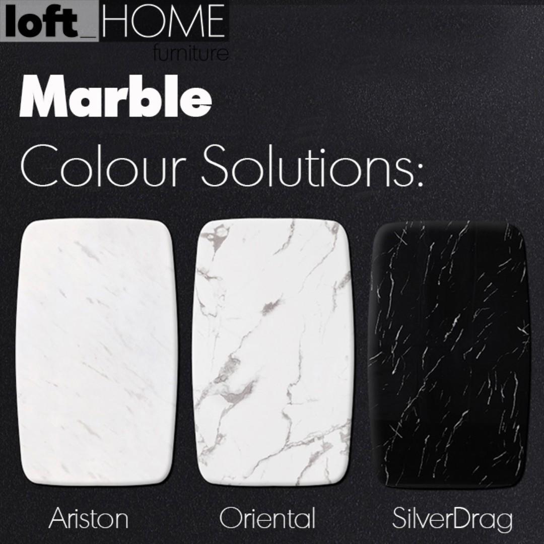 Marble / Stainless Steel Dining Table – SKORPIO