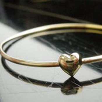 #mauovo Gelang Emas Hati 7cm / Gold Bracelet Heart Love