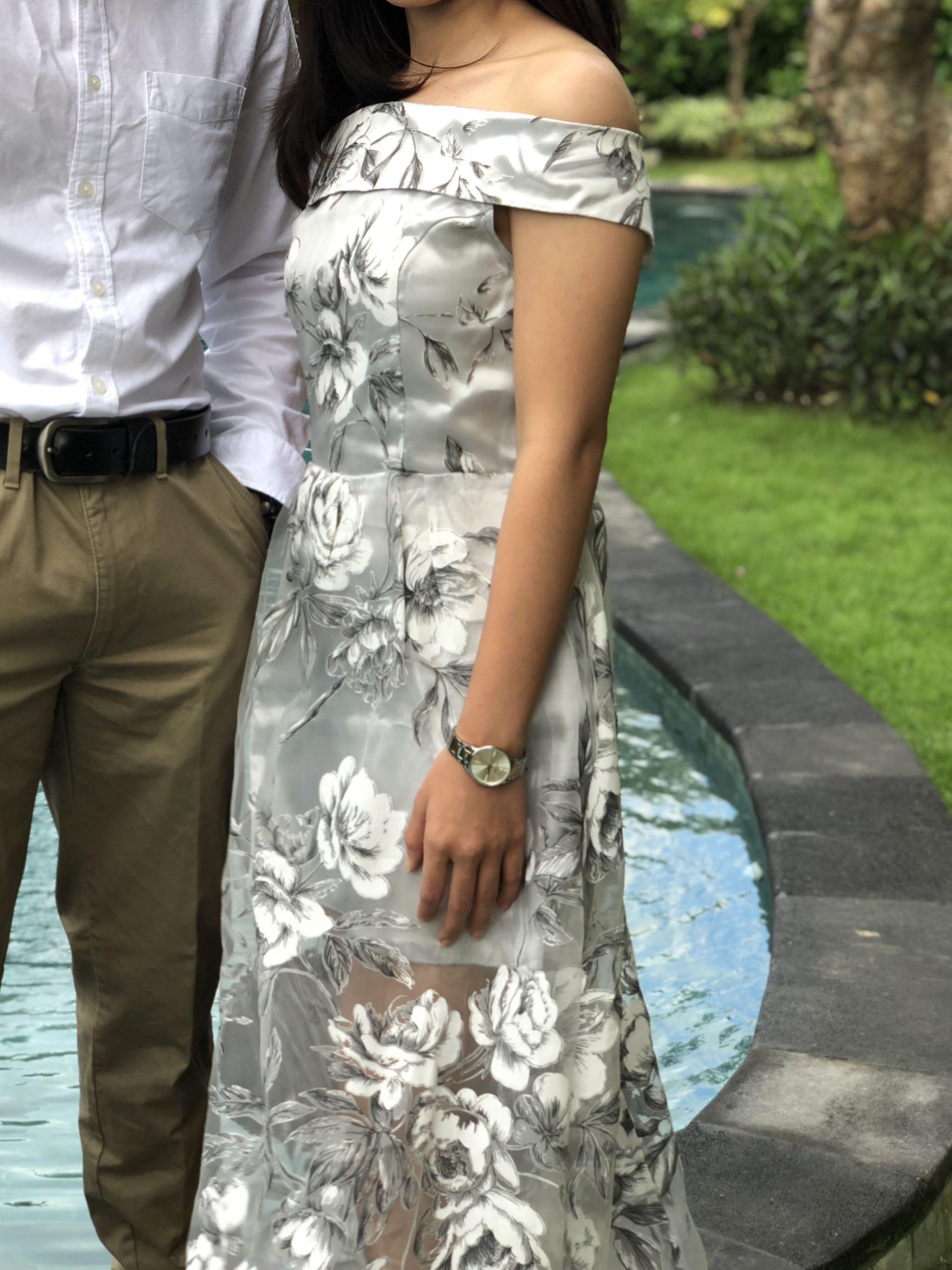 Midi dress sheer lace #promosidress