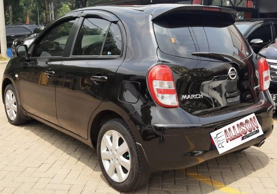 Nissan March 1.2L XS AT 2012 Hitam Dp 19,9 Jt No Pol Ganjil