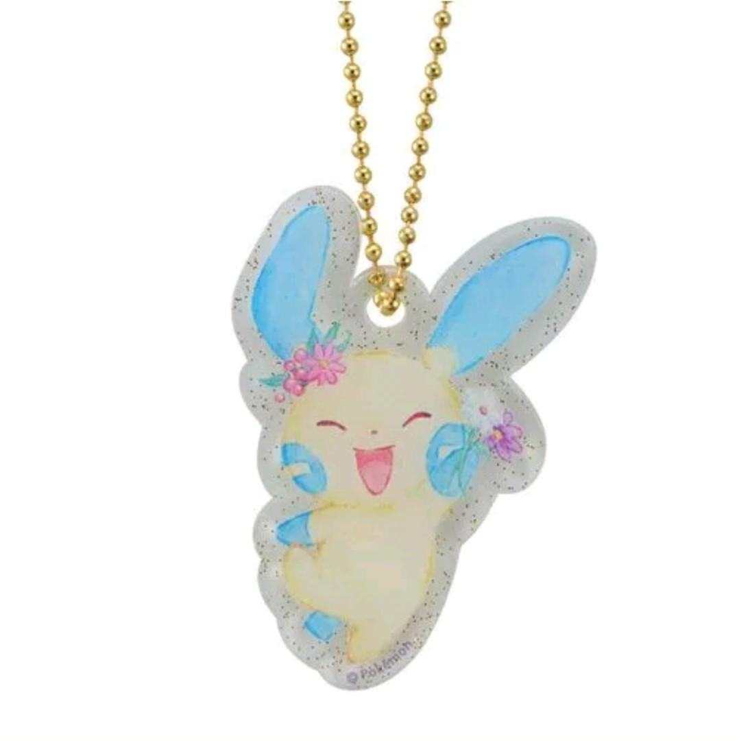 Pokemon Center Japan Easter Garden Mystery Egg Acrylic Keychain Minun