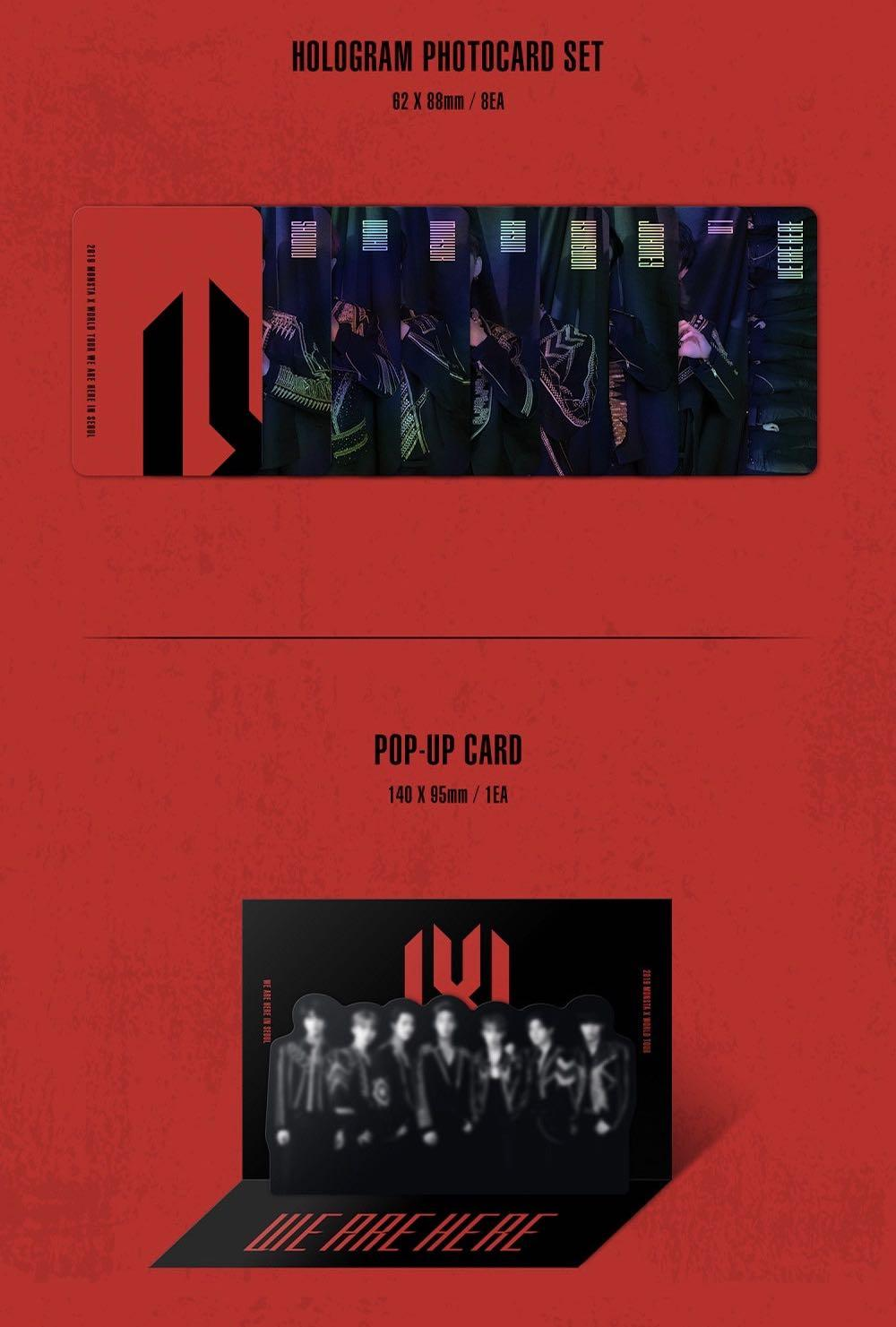 Pop-up card (2019 MONSTA X WORLD TOUR WE ARE HERE IN SEOUL DVD)