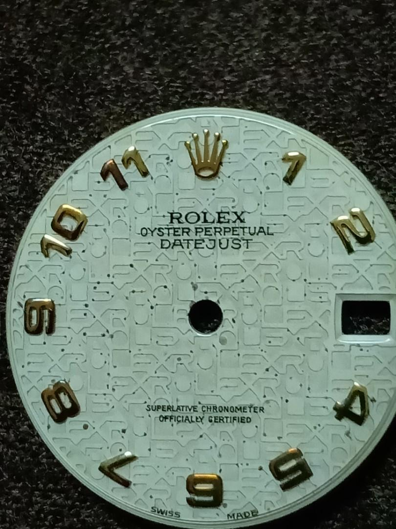 Rolex Oyster Date precision black Dial with Arabic & baton indices - 100% authentic