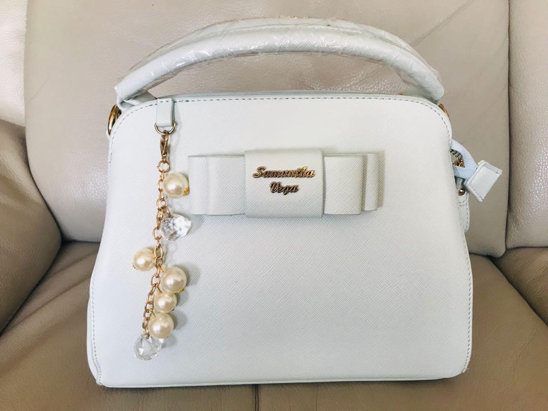 日本品牌Samantha Vega淡綠色氣質蝴蝶袋🎀