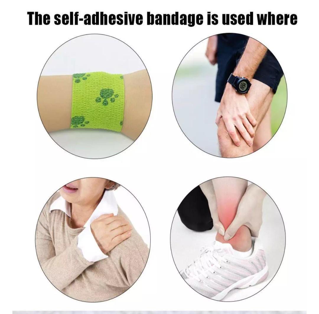 Self adhesive bandages pets people humans