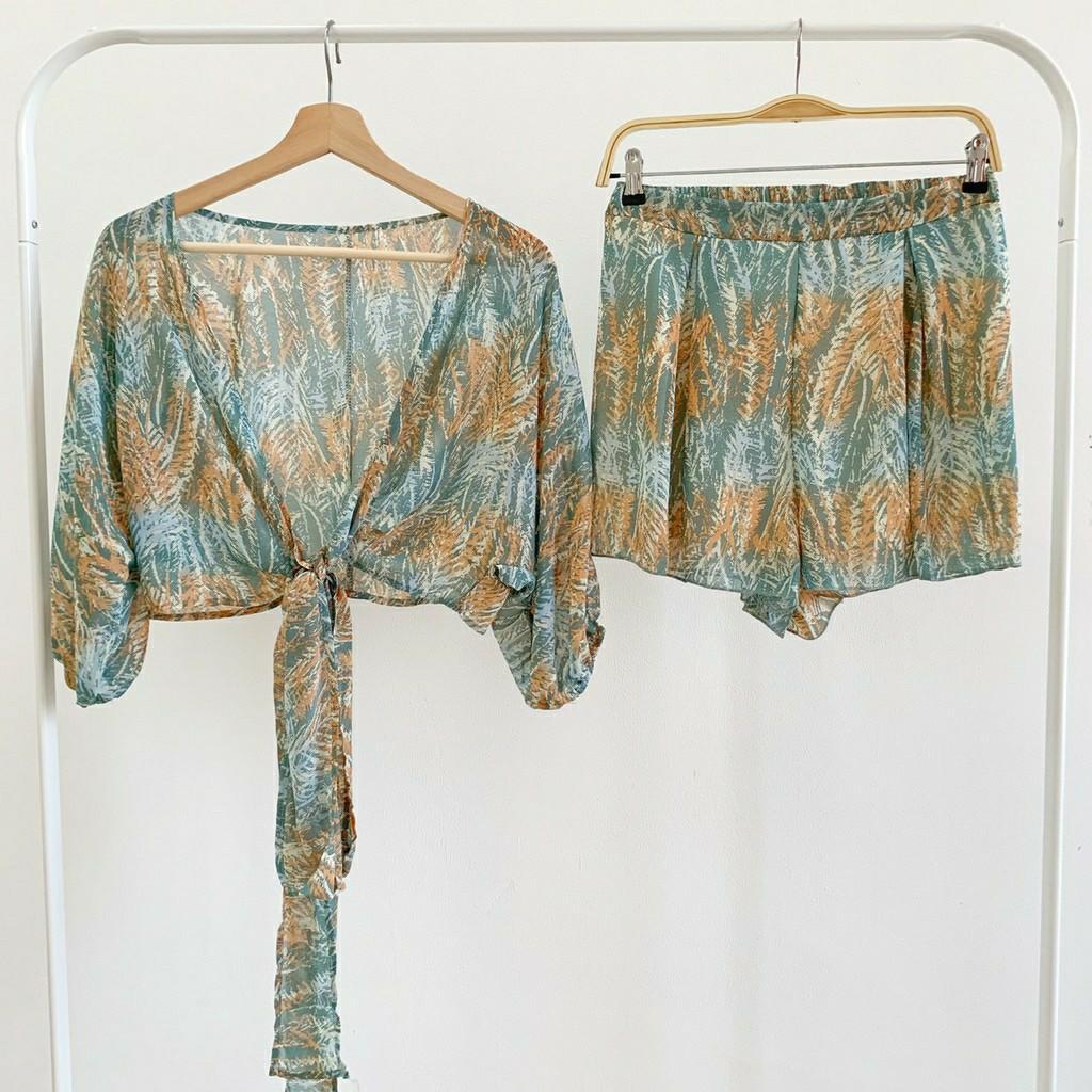Setelan wanita Labait Summer Set Top Outer & Pants SET5576 setelan celana floral set setelan casual setelan simpel