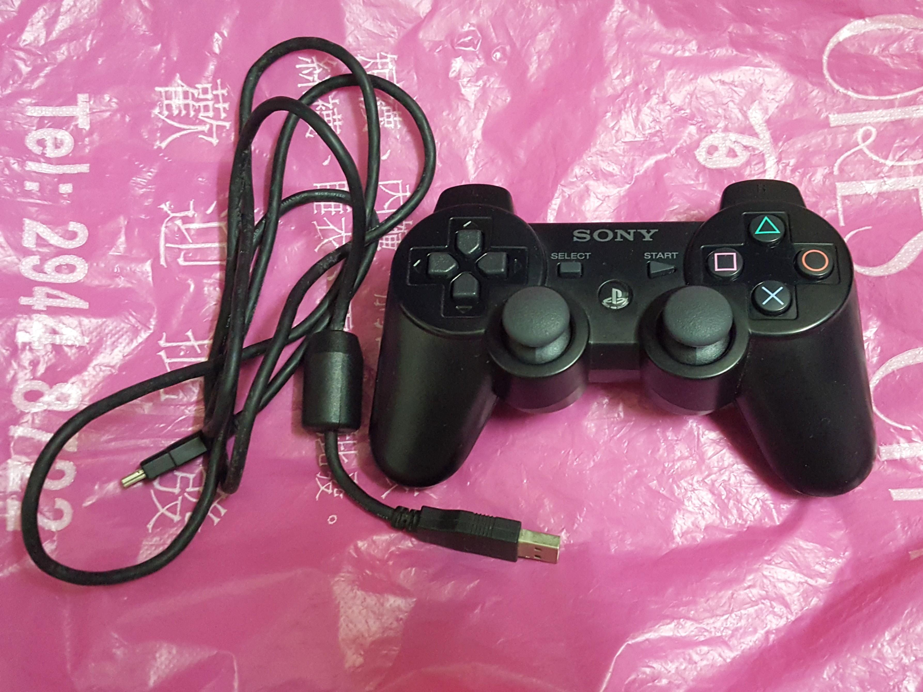 SONY PS3 Controller With The USB Charger Cable For The Controller!. 100% Work.