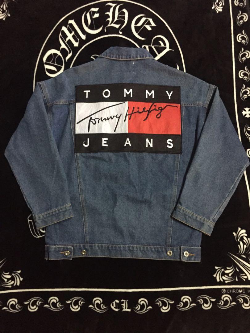 Tommy 牛仔外套  翻玩