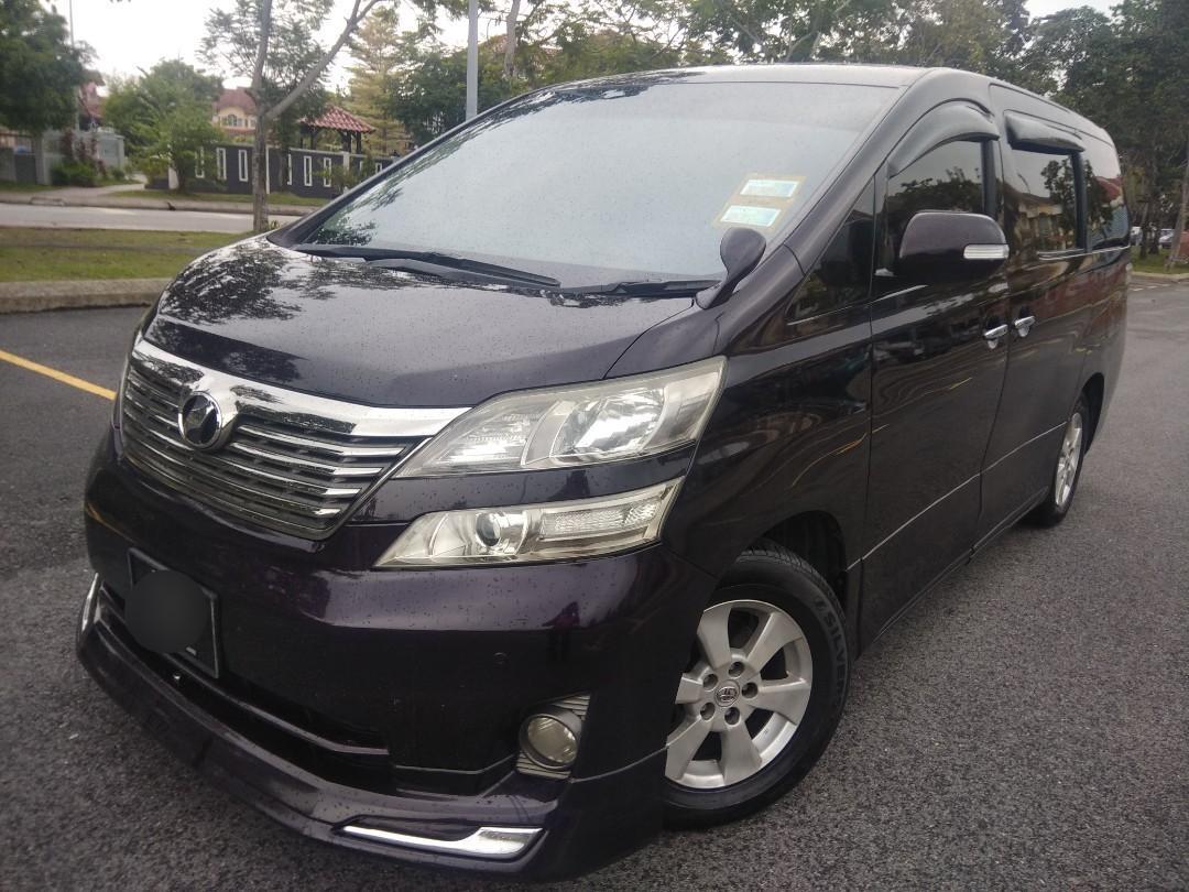Toyota Vellfire 2.4 ( A ) 8 Seater ( Kereta Sewa )