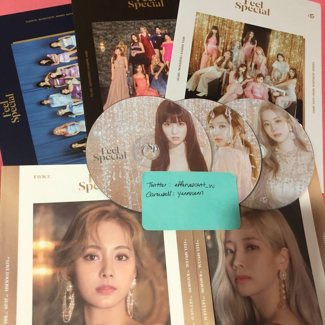Twice Feel Special Official Album Nayeon Momo Tzuyu Dahyun