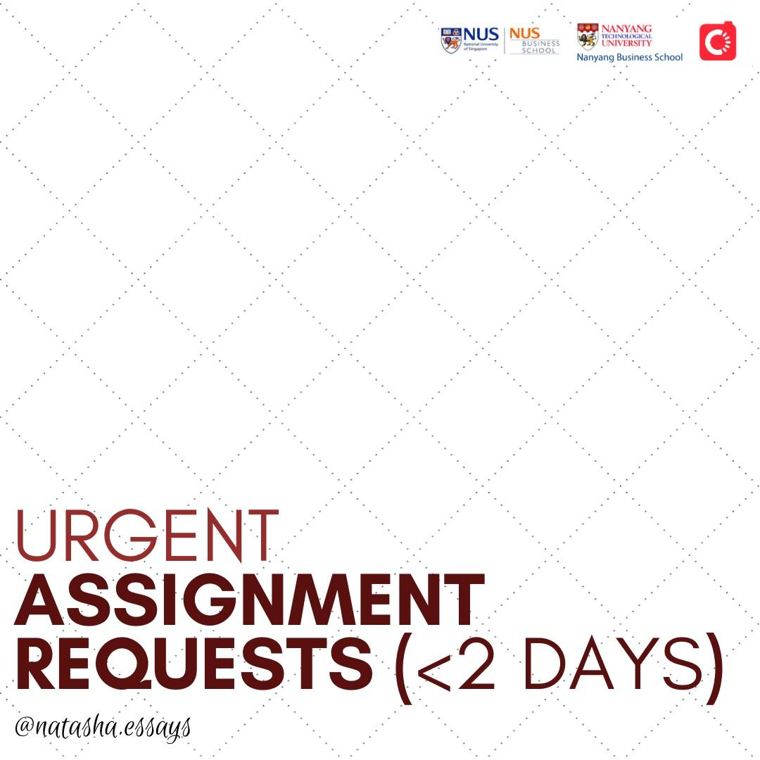 Urgent Assignment Essay