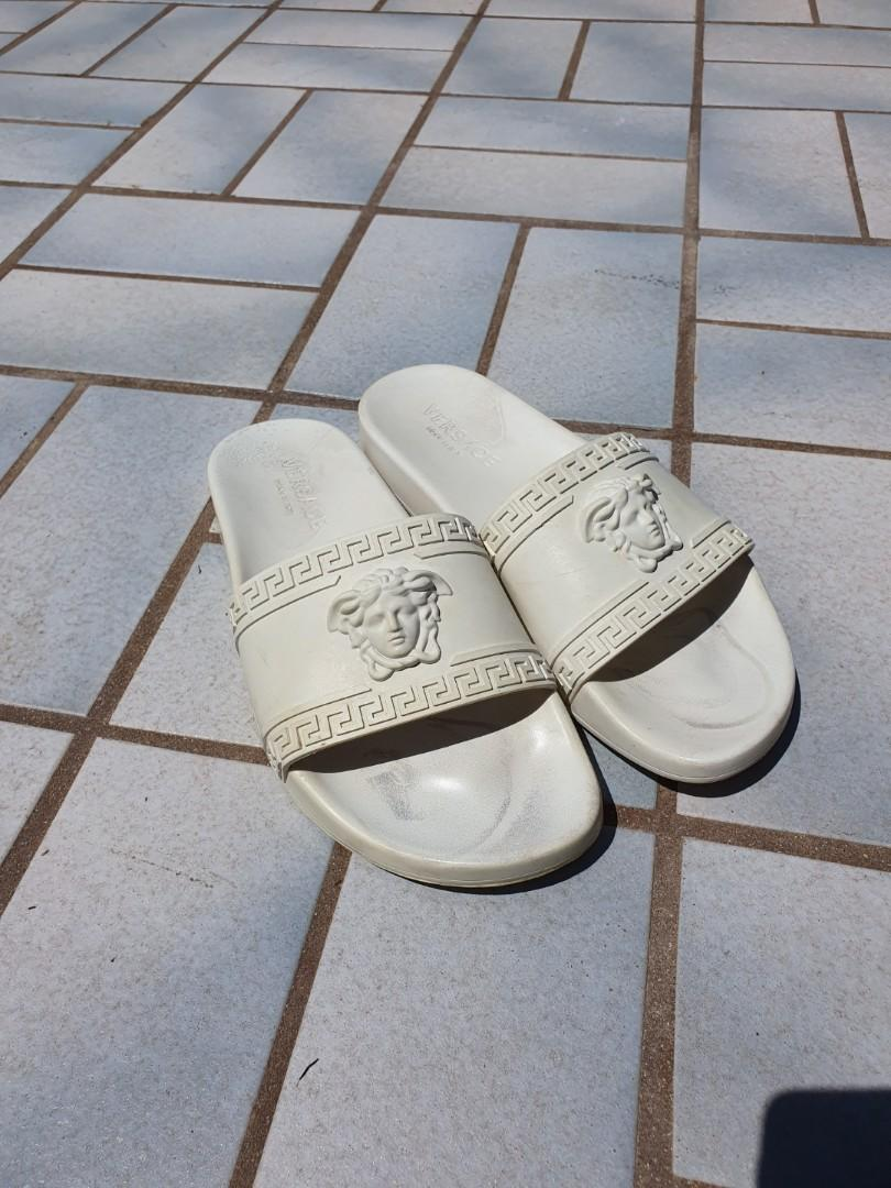 Versace - Palazzo Medusa Pool Slide in Chalk White