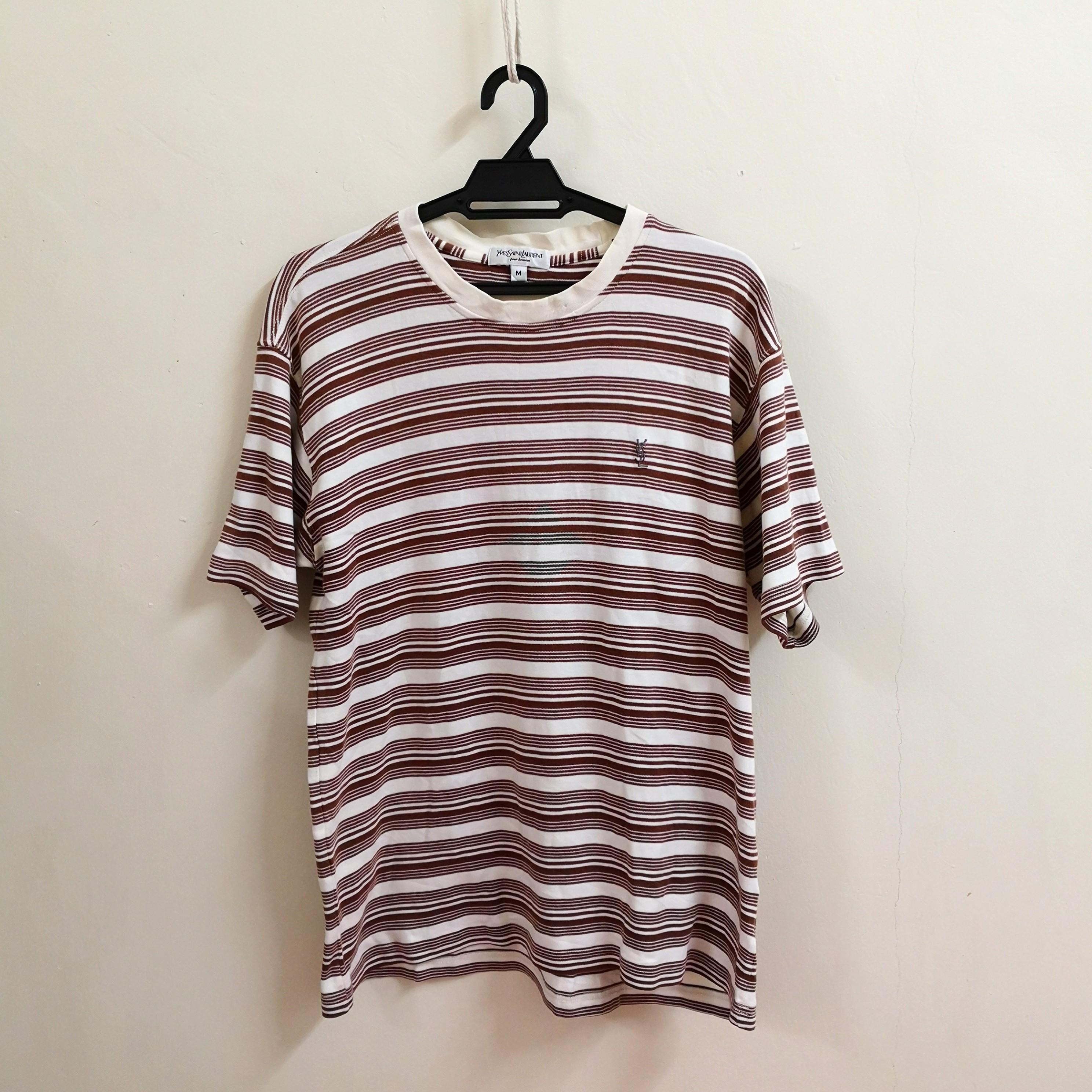 Vintage YSL Striped T Shirt
