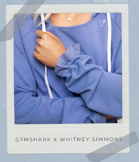 Whitney Simmons x Gymshark hoodie - Beautiful Blue