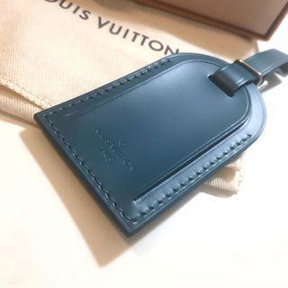聖誕限定價❤️LV 路易威登深藍色真皮行李吊牌(真品)