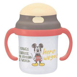 🇯🇵日本進口🇯🇵 SKATER迪士尼 DISNEY 米奇 MICKEY 嬰兒用塑膠兩手吸管水壺