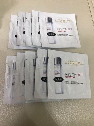 L'Oréal Paris Revitalift Crystal Essence Water Samples