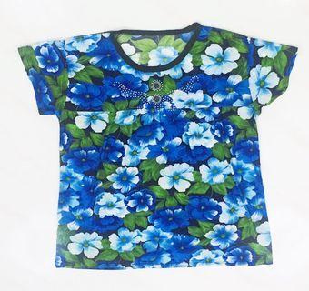 Blue Flowery Blouse