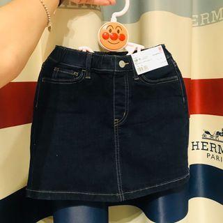 日本帶回 Uniqlo女童鬆緊褲頭牛仔裙 120cm